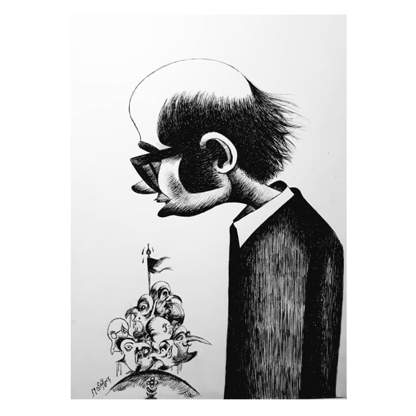 Bahman Abdi {Portrait of Ardeshir Mohasses}