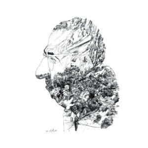Bahman Abdi {Portrait of Hoshang Seyhoun}